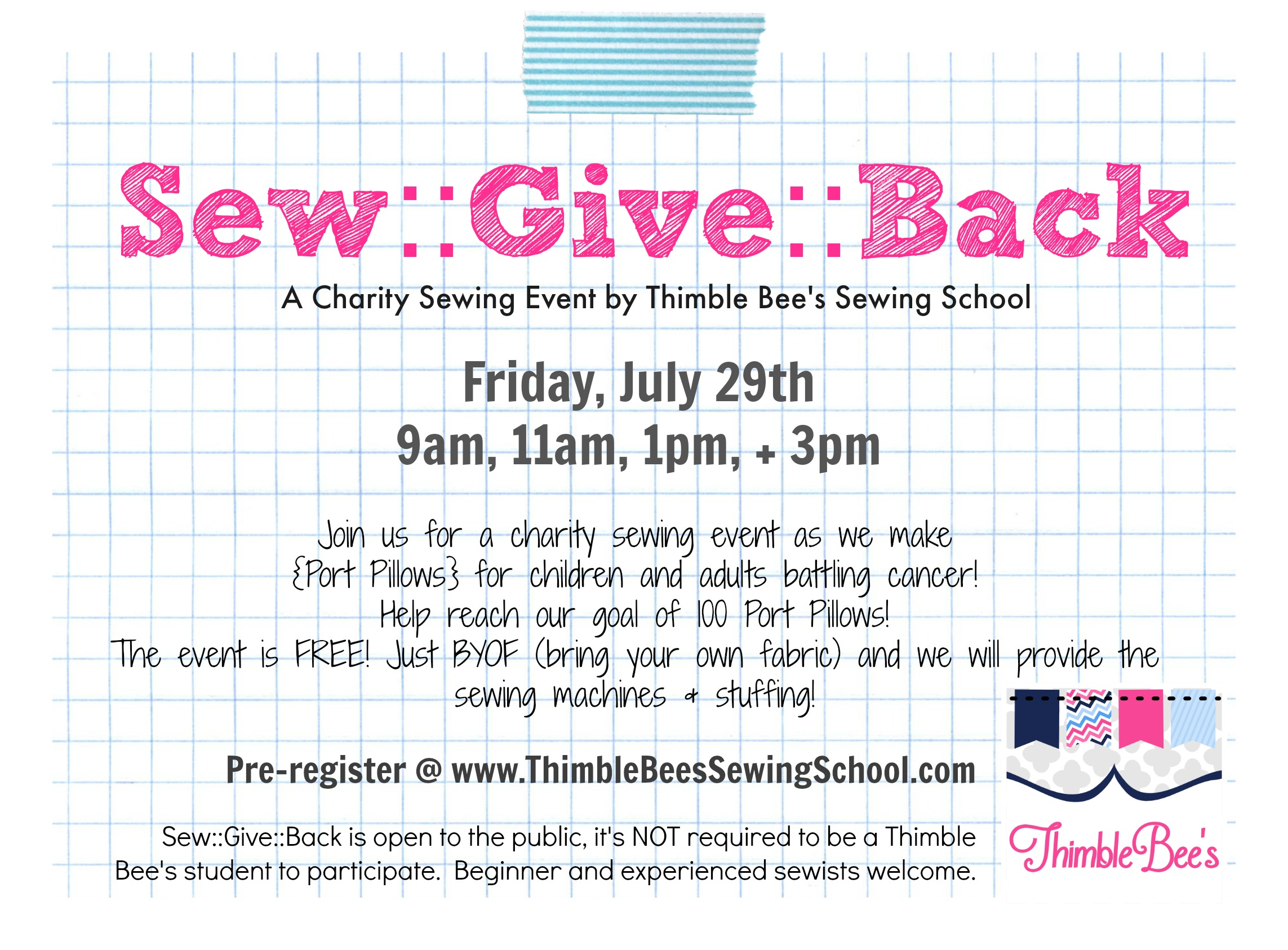Sew Give Back 2016