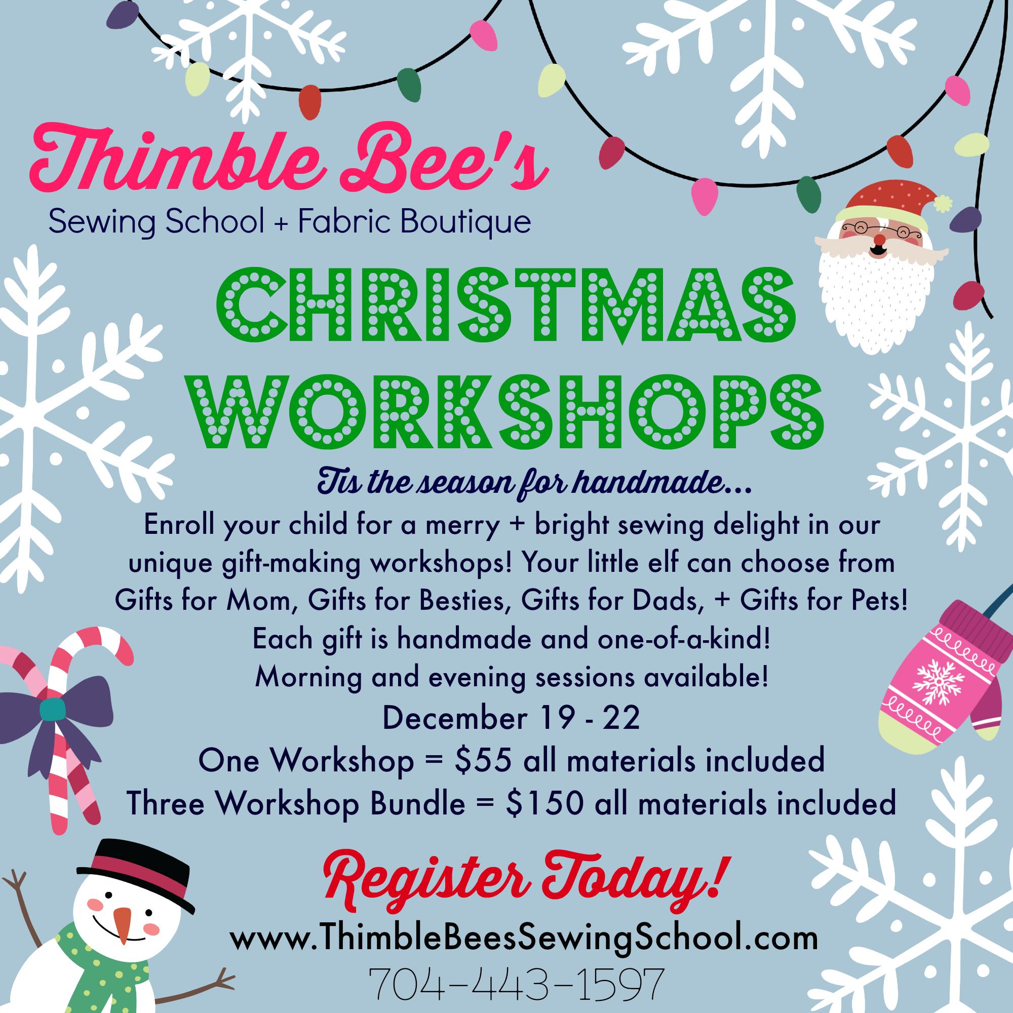 Christmas Workshops 2017